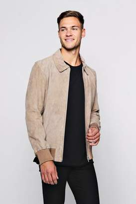 boohoo Luxe Real Suede MA1 Bomber