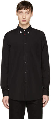 Givenchy Black Jewelry Buttons Shirt