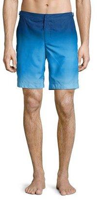 Orlebar Brown Dane Ombre Swim Trunks, Light Blue $275 thestylecure.com