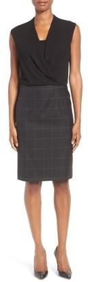 Women's Boss Daliena Mixed Media Dress $575 thestylecure.com
