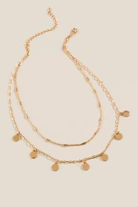 francesca's Kristina Coin Drop Layered Necklace - Gold