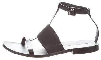 Alexander Wang Leather T-Strap Sandals