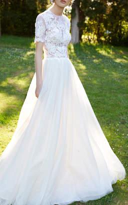 Costarellos Bridal Cordonne Lace Ballgown