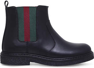 Gucci Joshua leather Chelsea boots 2-5 years