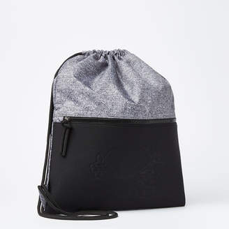 Roots Salt and Pepper Drawstring Bag