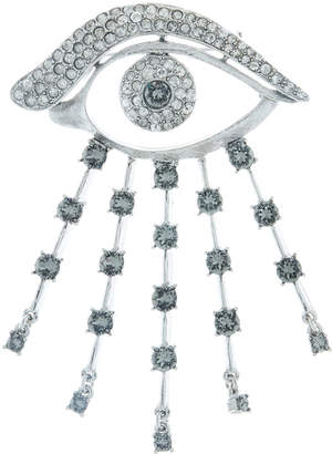 Oscar de la Renta Crystal Eye Brooch