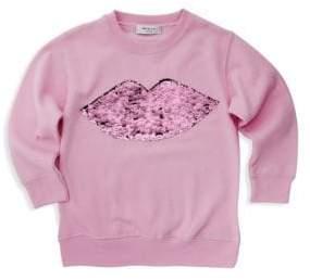 Milly Minis Little Girl's Sequin Lips Sweatshirt