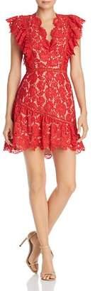 Saylor Rose Lace Ruffle Dress