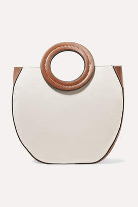STAUD Frida Canvas And Leather Tote