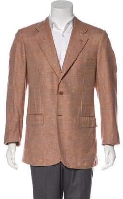 Kiton Plaid Cashmere Sport Coat