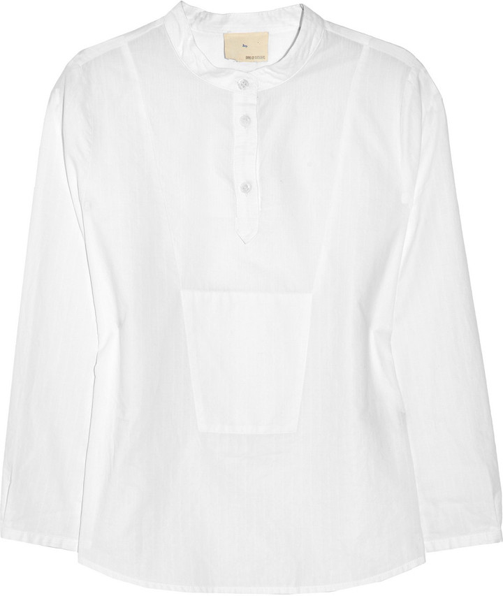 Boy. by Band of Outsiders Textured-stripe cotton shirt