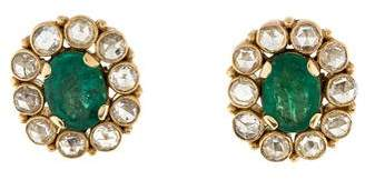 Amrapali 18K Emerald & Diamond Studs