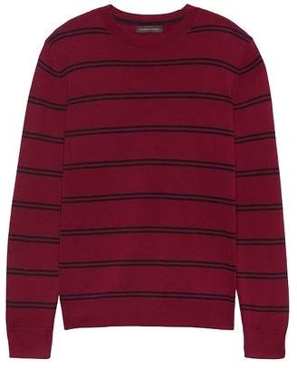 Banana Republic Extra-Fine Italian Merino Wool Stripe Crew-Neck Sweater