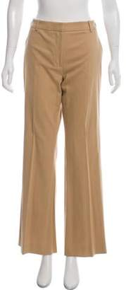 Cacharel High-Rise Wide-Leg Woven Pants Tan High-Rise Wide-Leg Woven Pants