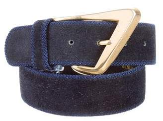 Christian Dior Suede Buckle Belt