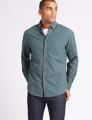 Marks and Spencer Pure Cotton Flannel Shirt