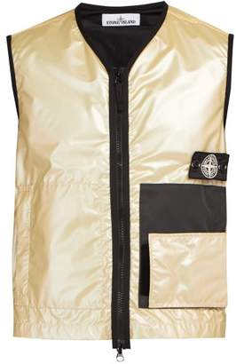 Stone Island Iridescent Technical Gilet - Mens - Silver