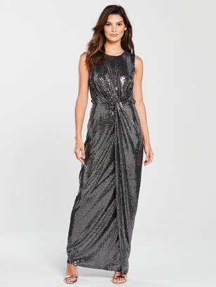 7c8ac3c12880c Phase Eight Dahlia Shimmer Maxi Dress - Silver