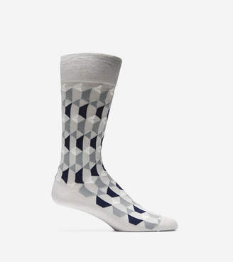 Cole Haan Geo Graphic Neat Crew Socks