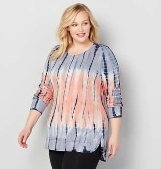 Avenue Hi Lo Tie Dye Pullover