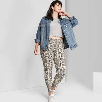 Wild Fable Women's Plus Size Animal Print High-Rise Skinny Jeans - Wild FableTM Neutral