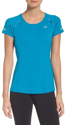 Women's New Balance 'Ice' Mesh Back Tee $45 thestylecure.com