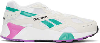 Reebok Classics White and Green Aztrek Sneakers