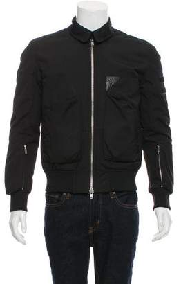 Tim Coppens Leather-Trimmed Zip-Up Jacket