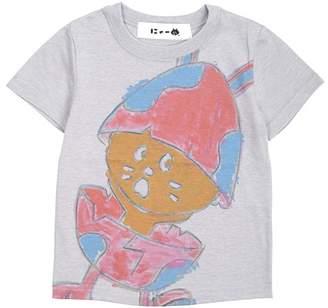 にゃー / (O) キッズ たまごうさぎにゃーT / Tシャツ