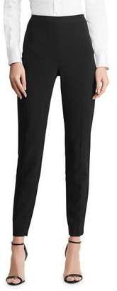 Ralph Lauren Annie Cropped Wool Crepe Pants, Black