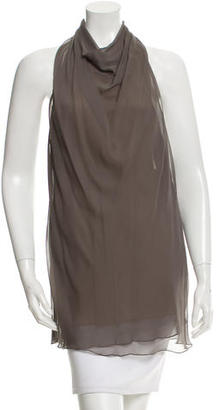 Vera Wang Pleated Silk Halter Top $75 thestylecure.com