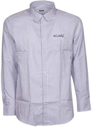 MSGM Embroidered Detail Shirt