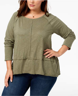 Style&Co. Style & Co Plus Size Seamed High-Low Top, Created for Macy's