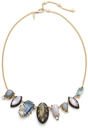 Alexis Bittar Crystal Encrusted Spider Bib Necklace $395 thestylecure.com