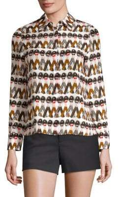 Alice + Olivia x Donald Willa Button-Front Shirt