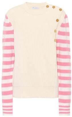 J.W.Anderson Embellished cotton-blend top