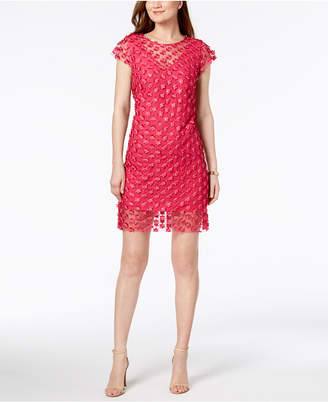 Nanette Lepore Sheer Appliqué Sheath Dress