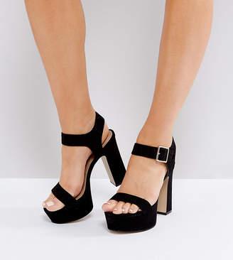 Asos DESIGN HARRISON Wide Fit Platform Sandals