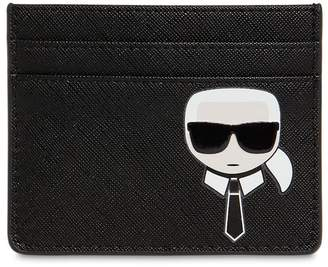 Karl Lagerfeld K/Ikonic Faux Leather Card Holder