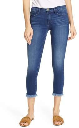 Frame Le Skinny de Jeanne Raw Hem Crop Skinny Jeans
