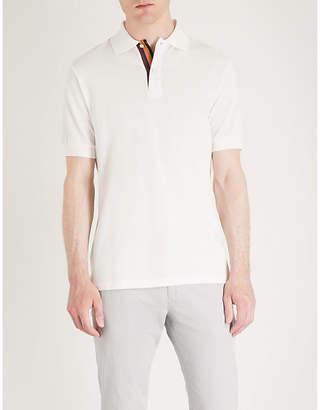 Paul Smith Striped placket cotton-piqué polo shirt