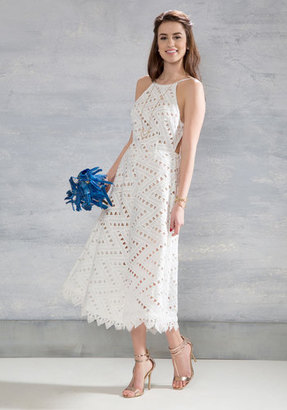 Line and Dot, LLC Be-All East End-All Midi Dress in White $200 thestylecure.com