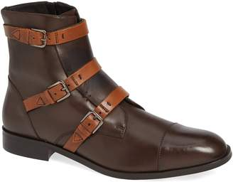 Donald J Pliner Martino Buckle Strap Boot