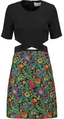 3.1 Phillip Lim Cutout Silk And Floral-Print Cloqué Dress