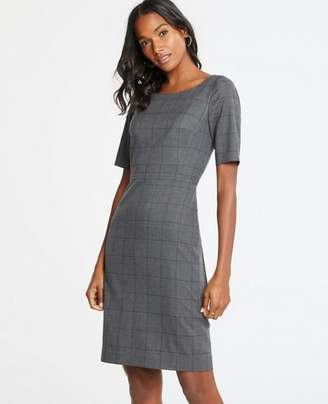 Ann Taylor Glen Plaid Sheath Dress