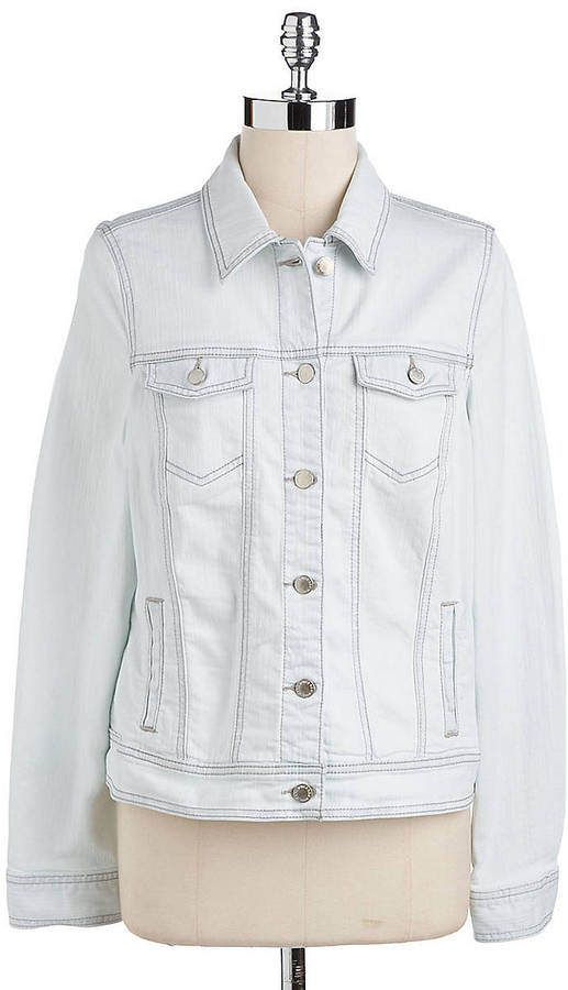 Jones New York Signature Petite Ombre Denim Jacket
