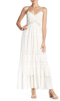 Rebecca Taylor Eyelet Crochet Lace Maxi Dress