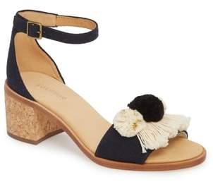 Soludos Capri Pom Pom Heel Sandal