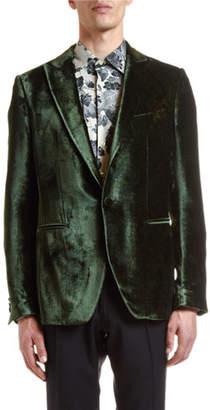 Etro Men's Hidden Paisley Velvet Jacket
