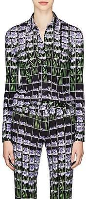 Prada Women's Daffodil-Print Crepe Blouse